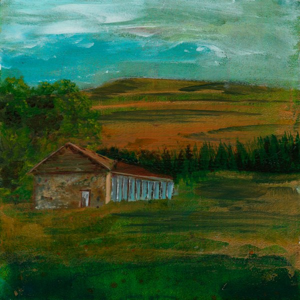 © 2015 Eleanore Ditchburn, The Powder House, Acrylic on Gessobord 10 x 10 cm