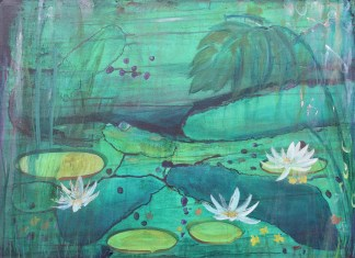 Waterlilies 1 Eleanore Ditchburn