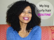 big curly hair routine natural