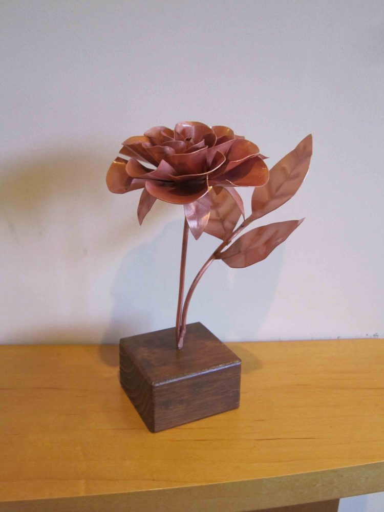 copper rose side view
