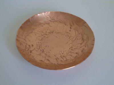 round copper bowl