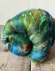 Textured art batt for spinning or felting - spinning wool, felting wool