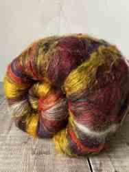 Carded textured wool batt by Eleanor Shadow, Scotland