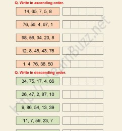 Ascending And Descending Order Worksheets Hd   Printable Worksheets and  Activities for Teachers [ 1754 x 1240 Pixel ]