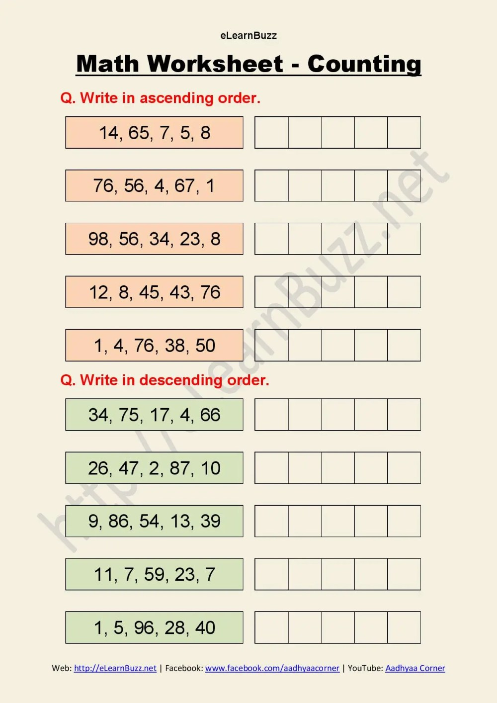 medium resolution of Ascending And Descending Order Worksheets Hd   Printable Worksheets and  Activities for Teachers