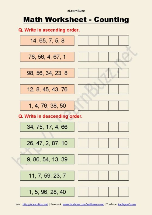 small resolution of Ascending And Descending Order Worksheets Hd   Printable Worksheets and  Activities for Teachers