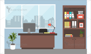 office personal cabin related background elearningdom illustration scenarios