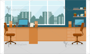 illustrated workplace backgrounds instructional designers employees
