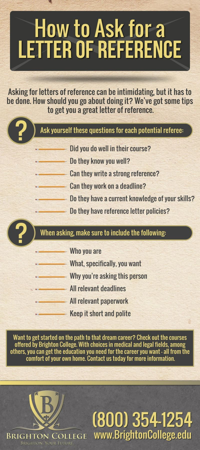 what to ask for in a letter of recommendation