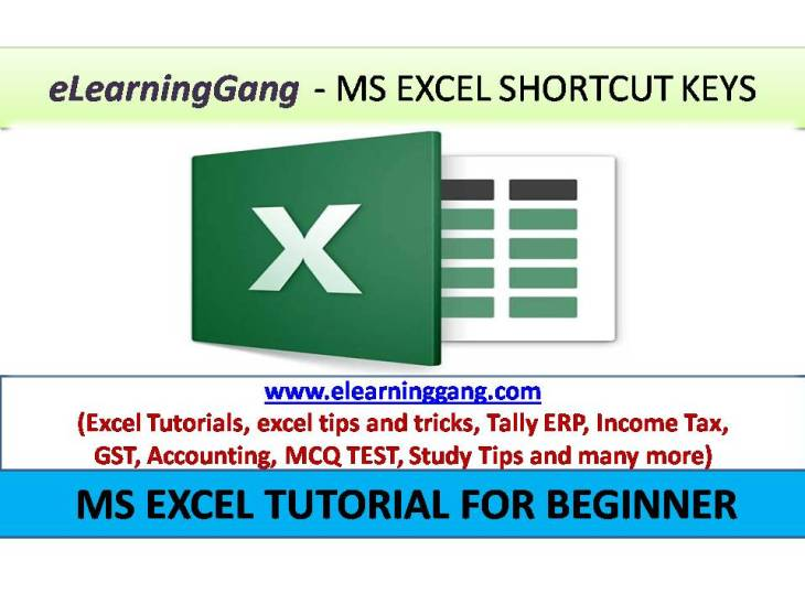 Basic Excel Shortcut Keys - Excel tutorial