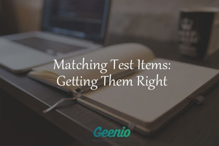 Matching Test Questions Advantages And Disadvantages