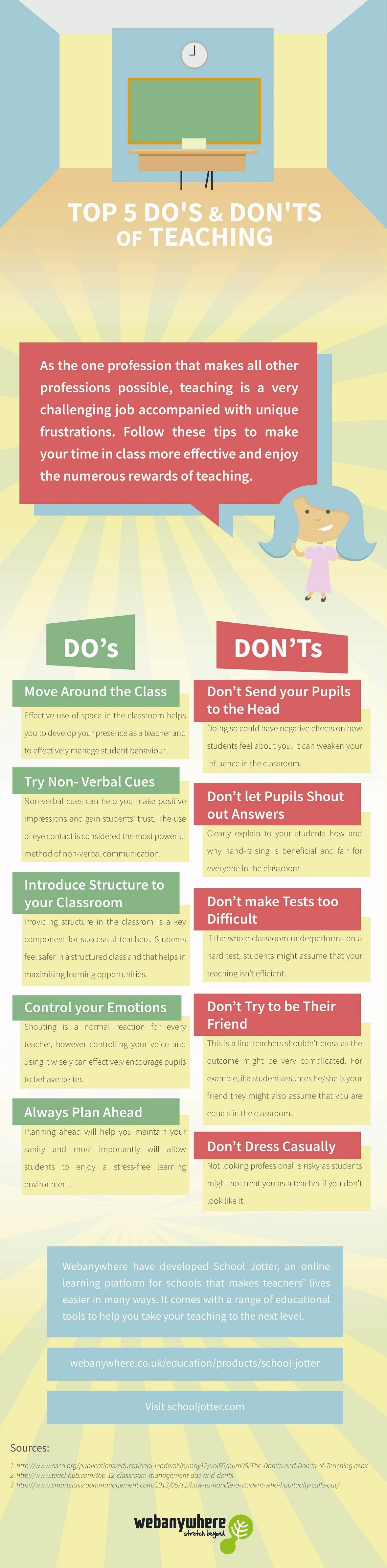 Top 5 Do S Amp Don Ts Of Teaching Infographic