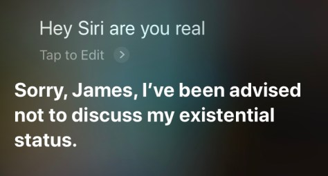 Hey Siri, are you real?