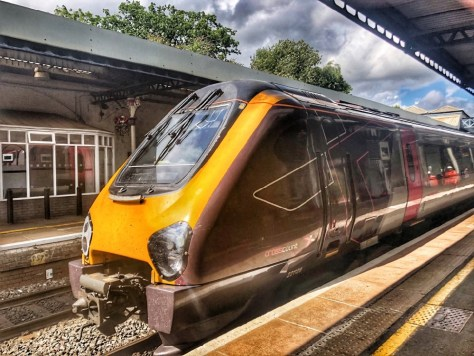 CrossCountry train at Cheltenham Spa Railway Station