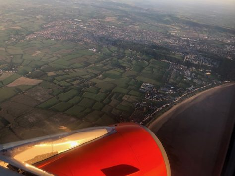 Flying over Weston-super-Mare