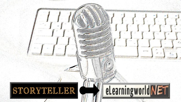 Storyteller on eLearningworld logo