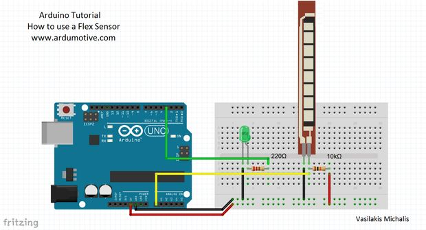 Tutorial Flex Sensor With Arduino Garagelab Arduino Electronics