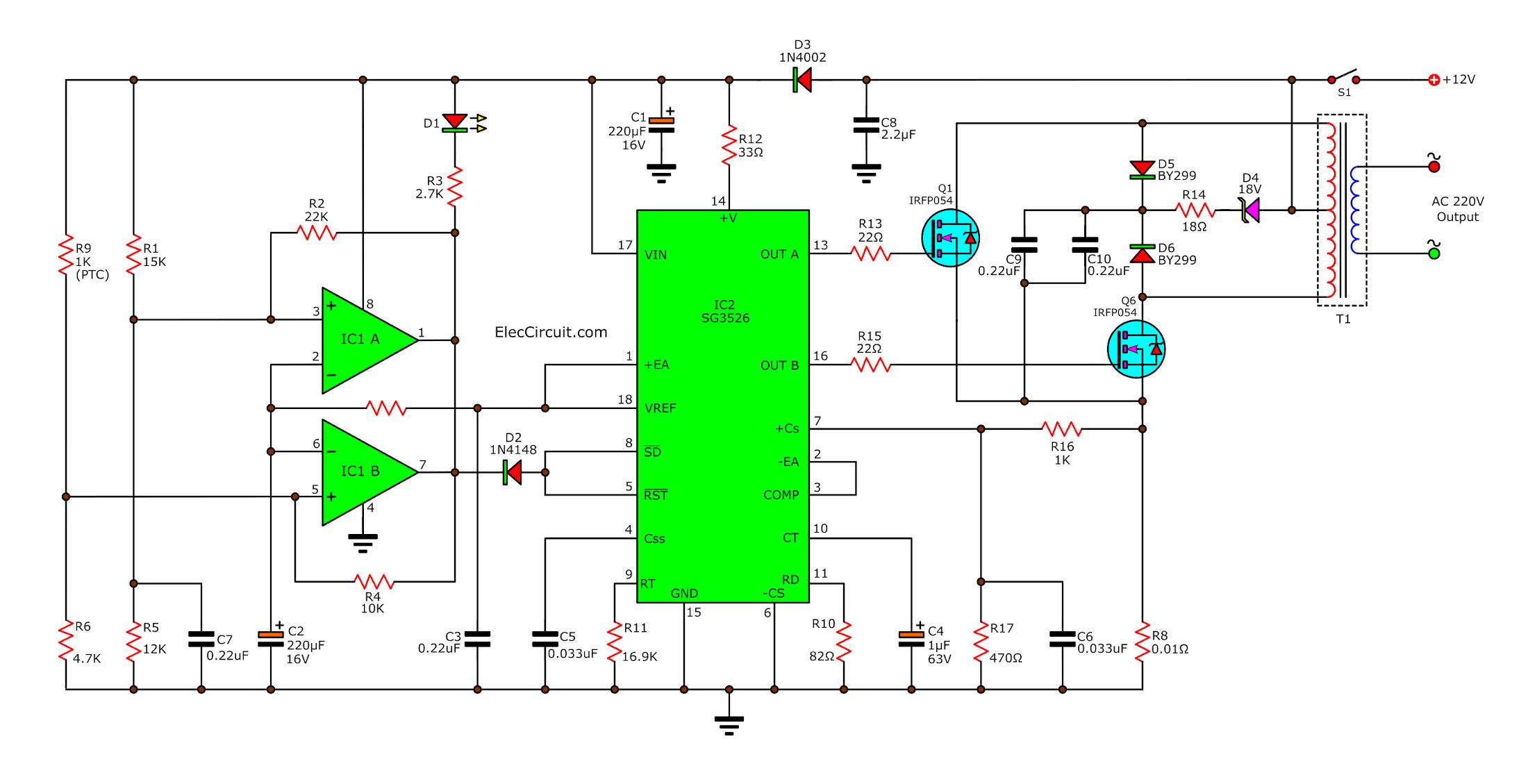 An Oscillator Of The 200 Watts Power Inverter