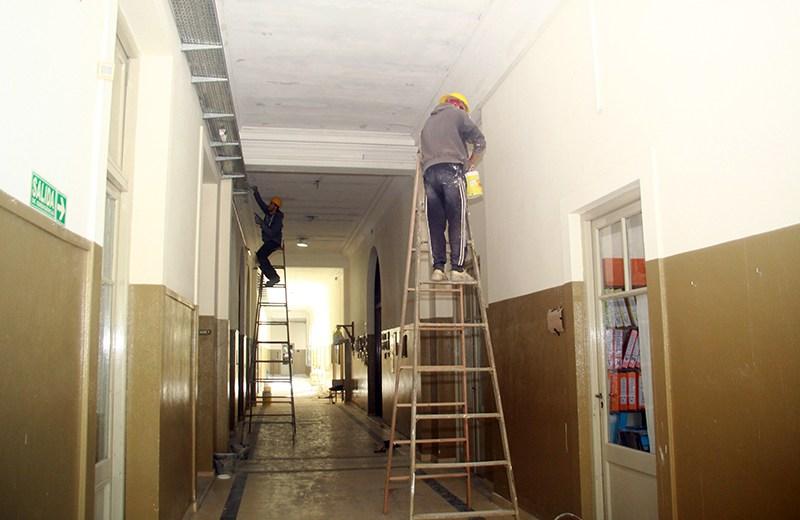 Restauración de galerías y terrazas en el Nacional