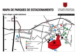 Mapa de Parques de Estacionamento