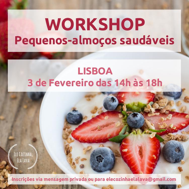 Workshop de Pequenos-Almoços Saudáveis em Lisboa