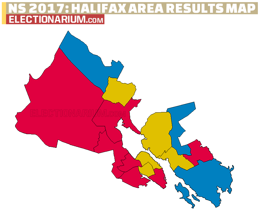 Nova Scotia Election 2017 Halifax area results map