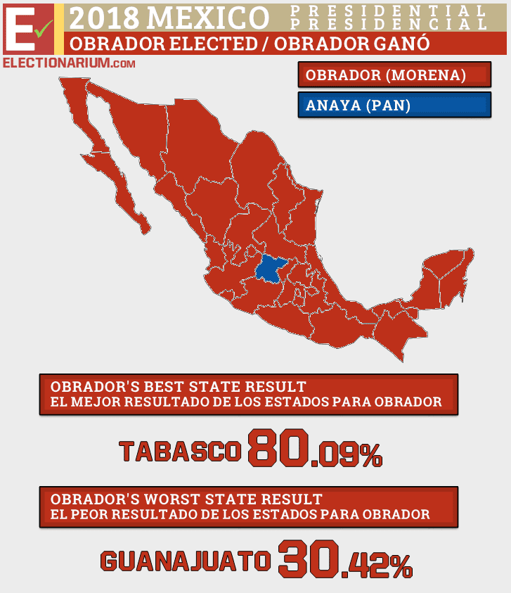 2018 Mexico Election Results - Presidential Map