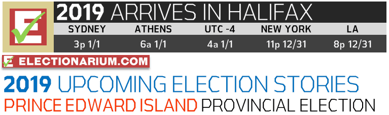 New Years Eve 2018 and 2019 Elections UTC-4 Halifax