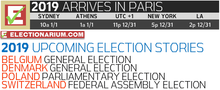 New Years Eve 2018 and 2019 Elections UTC+1 Paris