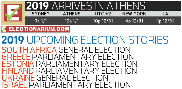 New Years Eve 2018 and 2019 Elections UTC+2 Athens