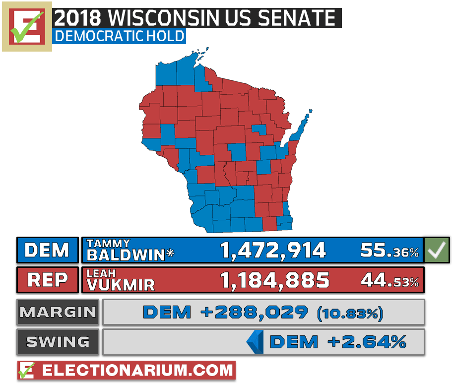 Wisconsin US Senate Election Results 2018