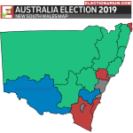 Australian Federal Election 2019 RESULTS - New South Wales Map
