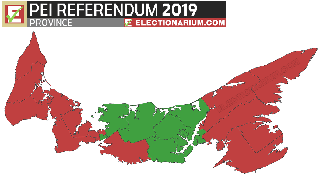 2019 Prince Edward Island Election referendum results - map