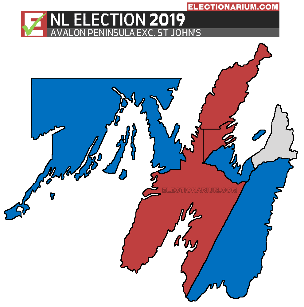 2019 Newfoundland and Labrador Election Results - Avalon Peninsula Map