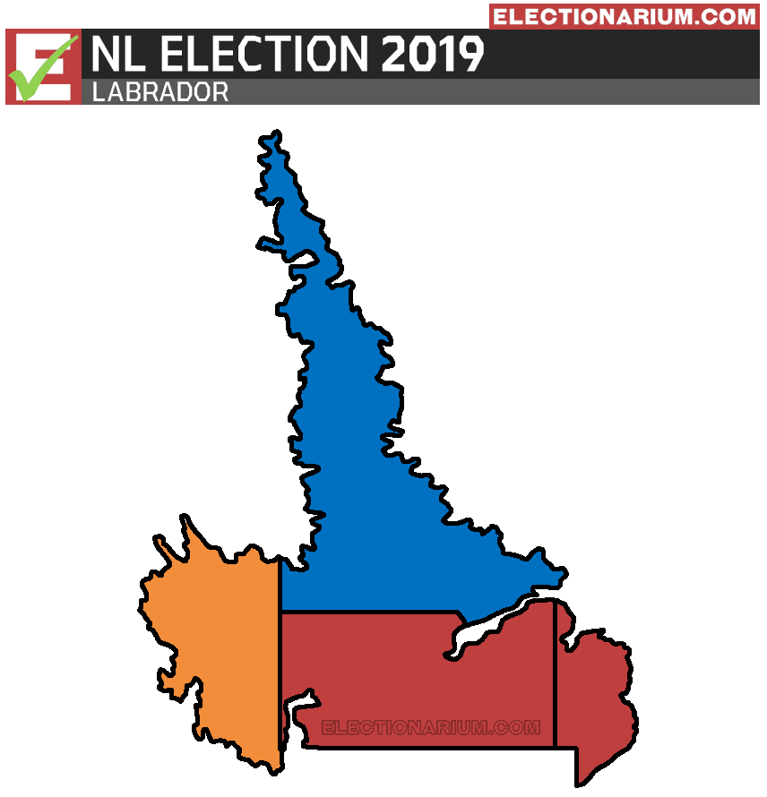 2019 Newfoundland and Labrador Election Results - Labrador Map