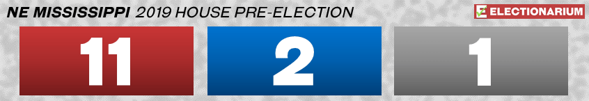 2019 Mississippi State House Elections - Northeast pre-election