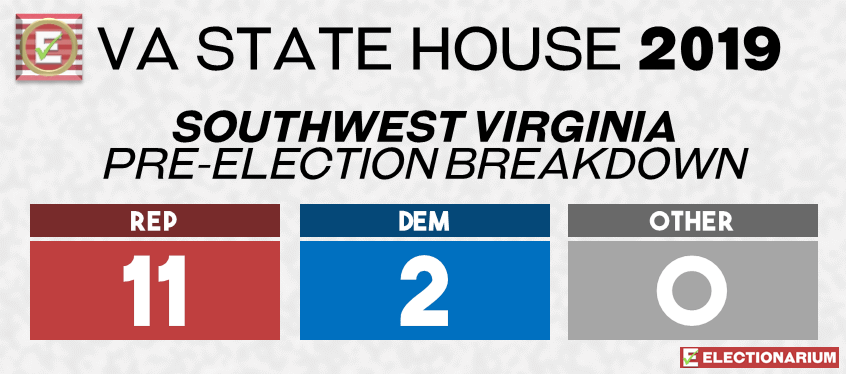 2019 Virginia State Legislature Elections - House Pre-Elex Southwest Virginia