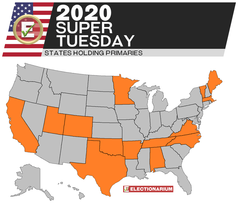 2020 Super Tuesday Map