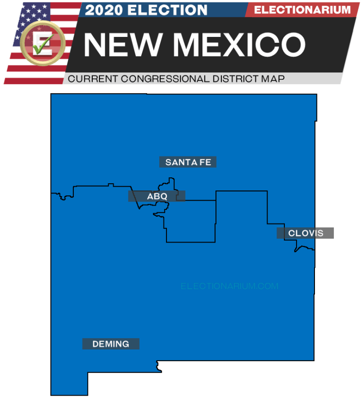 2020 New Mexico House Races - pre-election map