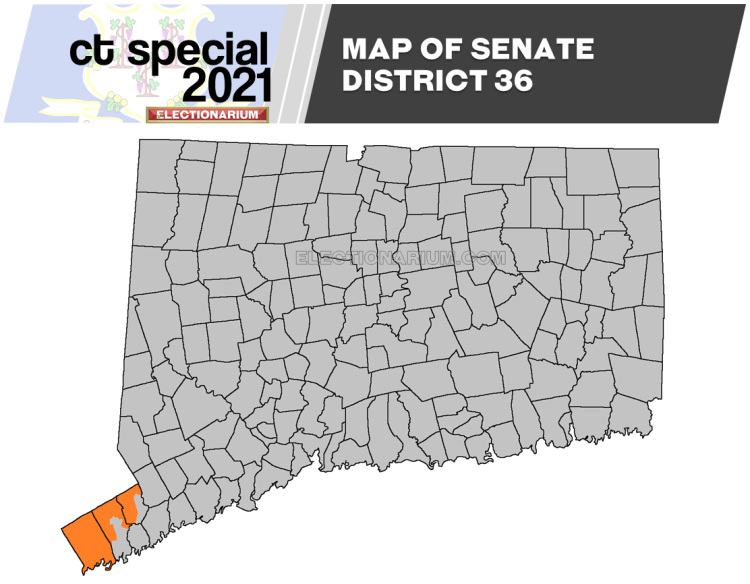 2021 Connecticut SD-36 Special Election map