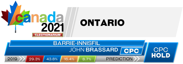ON Barrie—Innisfil prediction 2021 Canadian election
