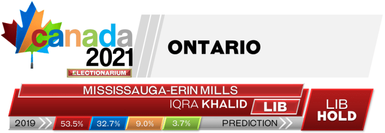 ON Mississauga—Erin Mills prediction 2021 Canadian election