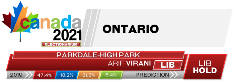 ON Parkdale—High Park prediction 2021 Canadian election
