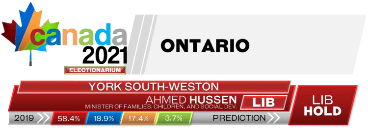 ON York South—Weston prediction 2021 Canadian election