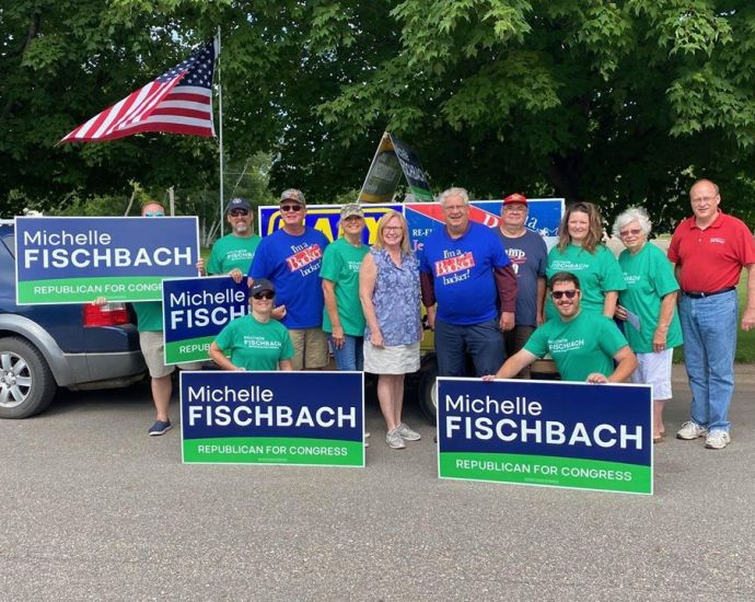 Michelle Fischbach campaigns in MN-07.