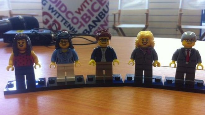 Oxford West and Abingdon hopefuls recreated in Lego by Andrew Beaumont.