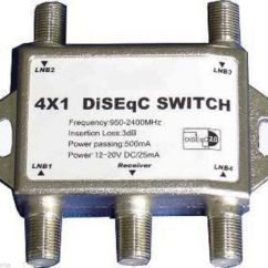 Cat5 Diagram Wiring Rover 75 Audio High Quality 4x1 Diseqc Switch Satellite Cnx Fta Lnb, Electorica