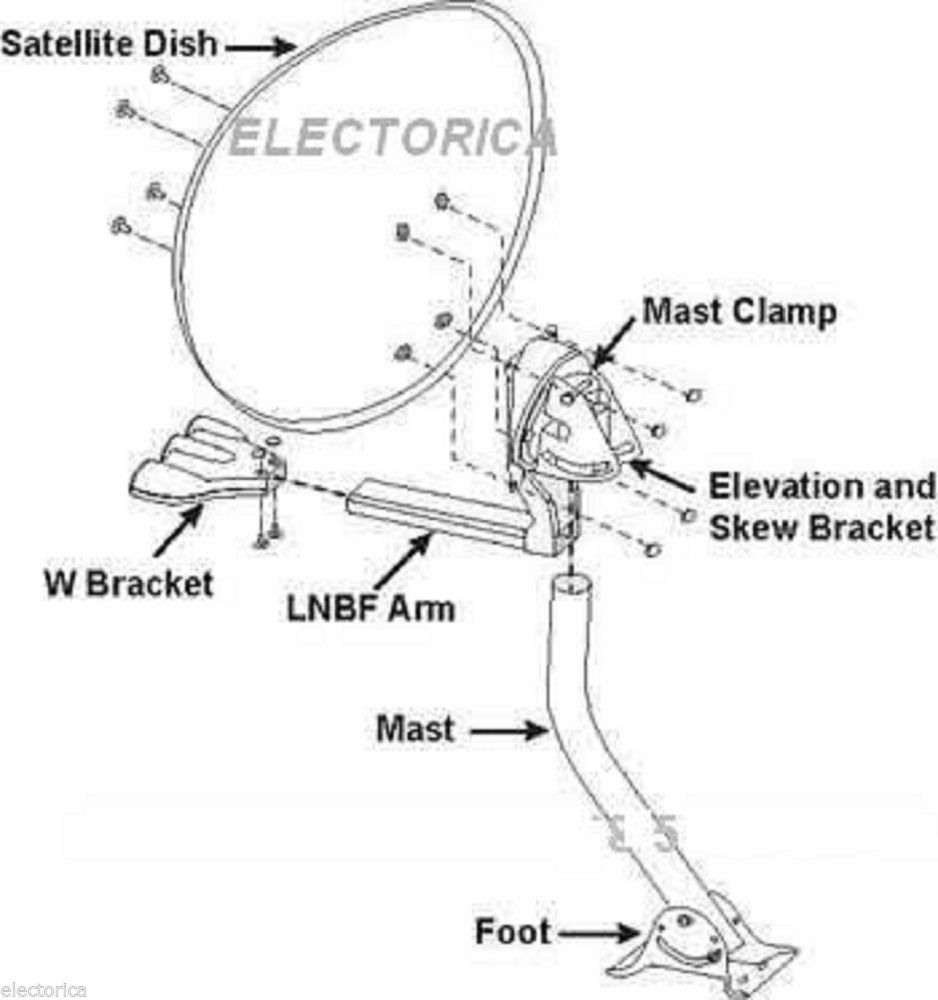 Directv Satellite Dish Parts Diagram, Directv, Free Engine