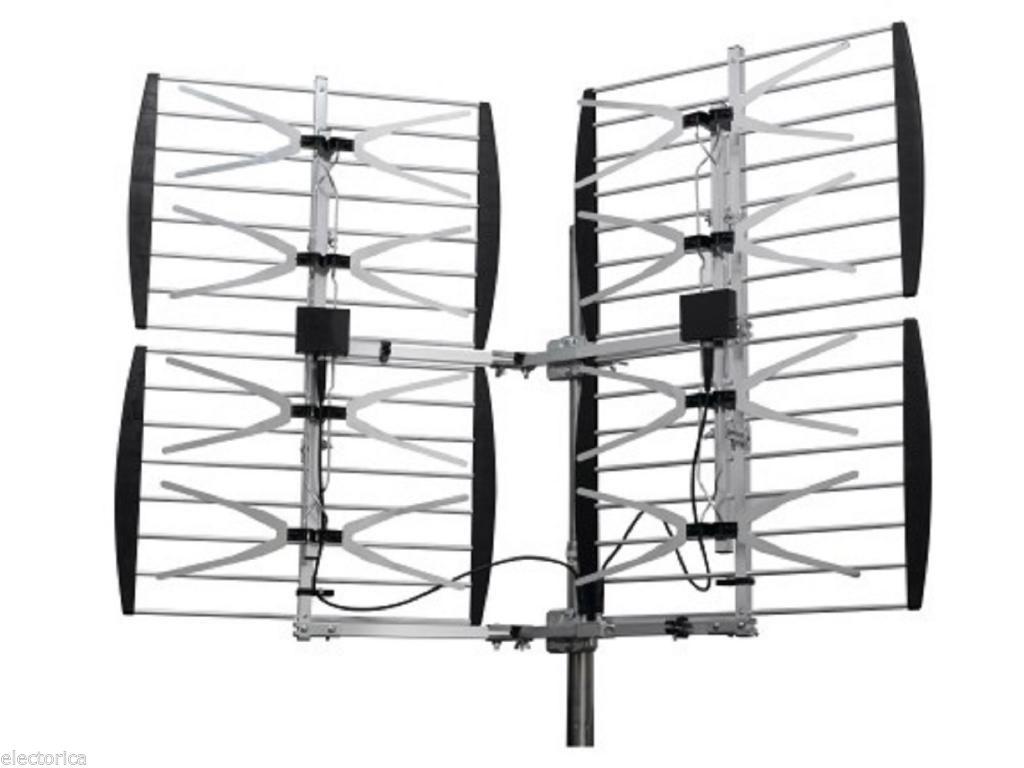 8 Bay Heavy Duty Multi Directional Vhf Uhf Outdoor Hdtv Hd Tv An Electorica