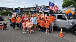 Family, Friends, and Supporters of Peter Abbarno at the Summerfest Parade!